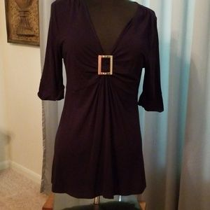 Chaos navy tunic w/metal buckle